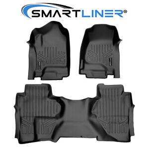 SMARTLINER Floor Mats for 14-18 Silverado/Sierra 1500/15-19 2500/3500 Double Cab