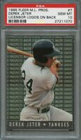 1995 fleer major league prospect #7 DEREK JETER new york yankees PSA 10