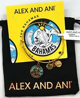 New Alex And Ani Exclusive 2019 Bahamas Gold Charm Adjustable Bangle Bracelet