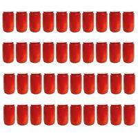 40x Premium Öllicht T3 Rot | Kompositions Friedhofskerze Grabkerze Dauerbrenner