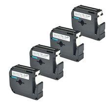 "4PK 1/2"" MK231 M-K231 M231 Black on White Lable Tape For Brother P-touch PT-70BM"