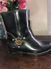 Michael Kors Short Rubber Rain Boots Size 7 Black water boot