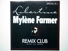 Mylene Farmer Maxi 45Tours vinyle Libertine Remix Club