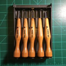Mikisyo Power Grip Carving Tools 5 Piece Set Wood Block Relief Print Making Used