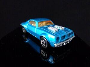 1975 MATCHBOX SUPERFAST No. 4 Pontiac Firebird Metallic Blue Lesney England