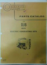 Onan Diesel Djb Electric Generator Set Parts Manual