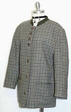 "TRACHTEN GREEN & BROWN PLAID WOOL JACKET Women AUSTRIA Coat  B46"" 44/14 16"