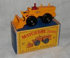 1960s.matchbox LESNEY.43 Aveling Barford Tractor shovel.all original.MINT IN BOX