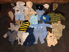 Lot of newborn/0 to 3 month baby boy clothes 26 pieces