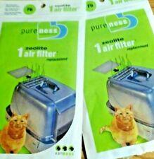 Zeloite Air Filter Replacement F6 Pureness Vanness  LOT OF 2 Cat Litter Filters