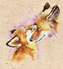 "Counted Cross Stitch Kit LUCA-S - ""Foxes"""