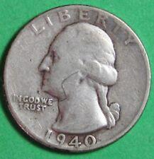 1940-P   US   Silver  Washington  Quarter   Circulated