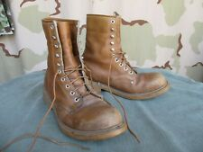 Vtg 1960s 1970s Lehigh Brown Leather Steel Toe Safety Work, Field, Hunting Boots