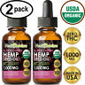 CHERRY Hemp Oil Drops for Pain Relief, Stress, Anxiety, Sleep - (2 PACK)