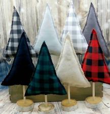 Handmade Fabric Trees - Mix and Match - Rustic Christmas Home Decor