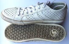 DVS zapatos/Shoes cortos ❤ blanco talla 40.5 UK 7.5 us 9 skate Girls cuero señora