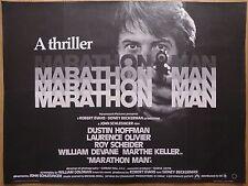 MARATHON MAN (1976) - original UK quad film/movie poster, Dustin Hoffman, crime