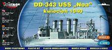 USS ''NOA'' DD-343 april  1940 -US NAVY DESTROYER, 1:400, MIRAGE HOBBY 40604