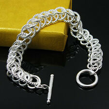 Cool 925 Sterling Silver Jewelry Centipede Men Lady Accessories Bracelet FH022