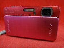 SONY CYBERSHOT DSC TX20 RED/PINK COMPACT RUGGED WATERPROOF TO 16 FT. POCKET CAM