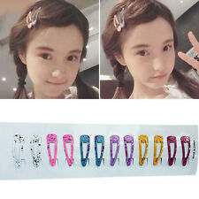 10x Cute Princess Kids Girl's Hair Accessories Slide Snap BB Clips Hairpins Gift