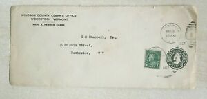 US 1 cent green 1927 Shifted down Stamped Envelope Cover postal used