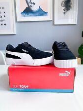 BNIB Kids Puma Carina Trainers UK 11 Eur 29 Black And White