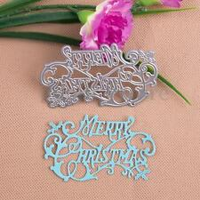 Merry Christmas Cutting Dies Scrapbooking Embossing Album Paper Cards Craft DIY