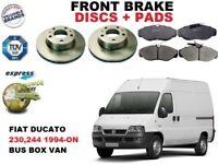 FOR FIAT DUCATO BUS BOX VAN 230 244 FRONT BRAKE DISCS SET + BRAKE PADS KIT