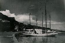 TAHITI c. 1940 - Quais de Papeete Voiliers - T 102