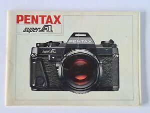 Pentax Super A Original Camera Instructions Operations Manual