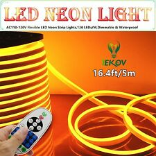 "LED NEON LIGHT, IEKOVâ""¢ AC 110-120V Flexible LED Neon Strip Lights, 120 + #5C6"