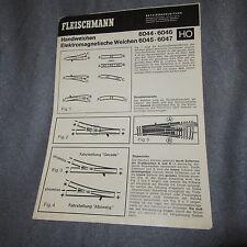 708B Fleischmann dépliant 8 pages HO Aiguillages