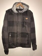 Rip Curl Australia The Search Hooded Jacket Grey Mens Size Small