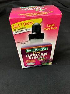 African Violet Plus Liquid Plant Food Micronutrients Beautiful Flower 4 OZ New