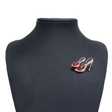 Brooch Pin Scarf Decoration Gift Jian Rhinestone Crystal Stiletto Shoe High Heel