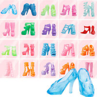 80pcs 40 Pairs Different High Heel Shoes Boots For Doll Dresses Clothes