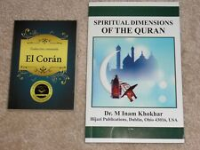 The Holy Book of Coran in Spanish plus Spiritual Dimensions of the Qurqn