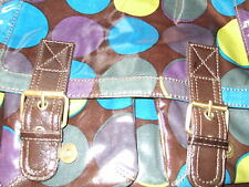 FAB 'OILSKIN' CIRCLES SATCHEL BAG FROM BODEN GREAT COND **REDUCED PRICE & P&P**