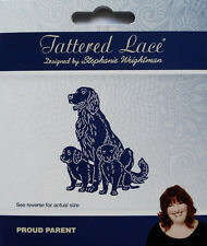 Tattered Lace Dies PROUD PARENT Dog & Puppies Metal Cutting Die - TLD0597