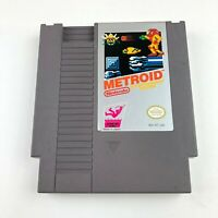 Nintendo NES Metroid Video Game Cartridge *Authentic* Tested Working w/ Cover
