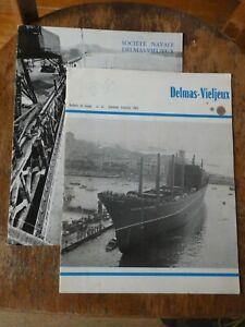 2 bulletins de liaison Société Delmas-Vieljeux, avril 1966 + 1er trim 1967