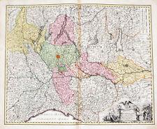 c1720 Italien Italia Lambardei Lombardia Milano Kolorierter Kupferstich Homann