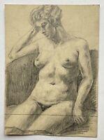Weiblicher Akt #2 Studie Skizze Zeichnung Bleistift Anonym 20,4 x 14,8 cm