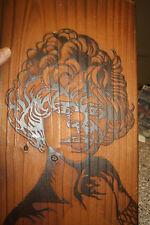 aboriginal A KITSCH 1970S CARVED PANEL GIRL JEDDER MELLOWOOD