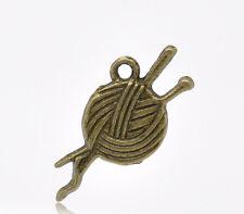 10 Pcs Antique Bronze Clew Charms Pendants 26x11mm LC1968