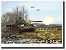 Endgame by Mark Karvon (Large) - A34 Comet Tank - Military Art - Decor