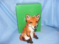 John Beswick Fox Animal Money Box Bank NEW JBMBA1