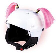 Zöpfchen für Skihelm Pink - rosa Zöpfe für Ski Helm Helmet Pigtail Pig Tails Ski