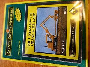 Railway Express Miniatures N #2011 KERSHAW Tie Crane & Tie Cart (Kit Form)